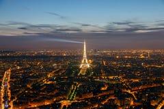 Paris Eiffel solnedgång Arkivbilder