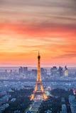 Paris - Eiffel torn, byggnader Royaltyfria Bilder