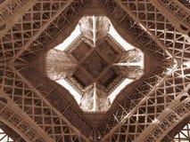 Paris Eiffel tornmitt Arkivfoto