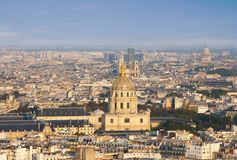 Paris from the Eiffel Tower Royalty Free Stock Images
