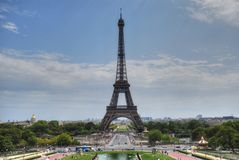 Paris, Eiffel Tower. Paris and Eiffel Tower seen from Trocadero Royalty Free Stock Photo
