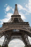 Paris - Eiffel tower. And sky Royalty Free Stock Photo