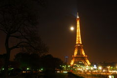 Paris Eiffel Tower. France Paris Eiffel Tower night view Stock Image