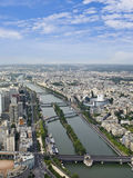 Paris from Eiffel Tower Stock Image