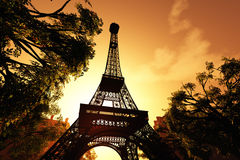 Paris Eiffel Tower 3D render Stock Image