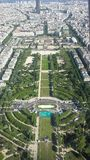 Paris from Eiffel Tower. Paris from the Eiffel Tower Royalty Free Stock Image