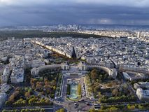 Paris From Eiffel Tower. Photo was taken during hte autumn Stock Images