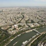 Paris from the Eiffel Tower. Paris and Seine River from the Eiffel Tower Royalty Free Stock Photography