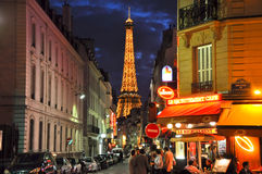 Paris with the Eiffel Tower in the background. Stock Photos