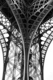Paris Eiffel Tower. (Black and white. hight contrast shoot Royalty Free Stock Photo