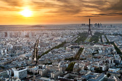 Paris - Eiffel Tower and Buildings Royalty Free Stock Image