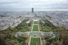 Paris from the Eiffel Tower. City of Paris from the Eiffel Tower Royalty Free Stock Photography