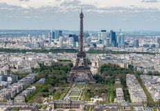 Paris Eiffel tower and city view aerial landscape Royalty Free Stock Photos
