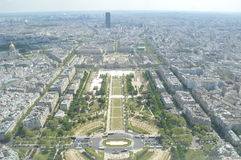 Paris from the Eiffel Tower. Cityscape of Paris from the Eiffel Tower Stock Photos