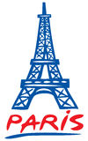 Paris eiffel tower design stock illustration