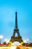 Paris Eiffel Tower at the early morning Royalty Free Stock Photos