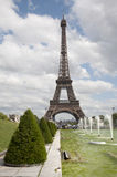 Paris - Eiffel tower and fountain Royalty Free Stock Photo