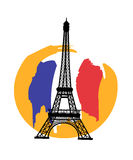 Paris with Eiffel tower Royalty Free Stock Photography