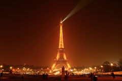 Paris - Eiffel Tower. Paris, France at night with Eiffel Tower overtopping the city Stock Photo
