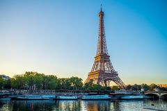 Paris Eiffel Tower, France. During summer Royalty Free Stock Images