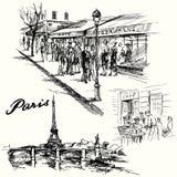 Paris, Eiffel tower Stock Images