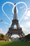 Paris Eiffel Tower love concept Stock Photography
