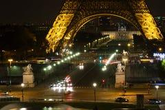 Paris  Eiffel Tower Night. Place: Paris. Date: November 7, 2014. Touristic spot and landmark in Paris, France: a city panorama with the Eiffel tower Tour de Stock Photos