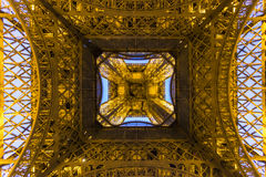 Paris Eiffel Tower at night Royalty Free Stock Image