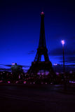 Paris, Eiffel Tower at night Stock Image