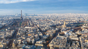 Paris with Eiffel Tower and palace Les Invalides Royalty Free Stock Photography