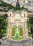 Paris from Eiffel tower (Palais de Chaillot) Royalty Free Stock Image