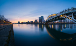 Paris eiffel tower. Panoramic view of Paris with the eiffel tower Royalty Free Stock Images