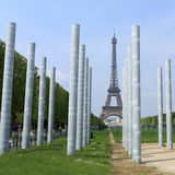 Paris, Eiffel Tower and peace monument Royalty Free Stock Image