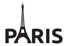 Paris - Eiffel Tower retro card Stock Photos