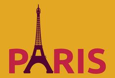 Paris - Eiffel Tower retro card Stock Image