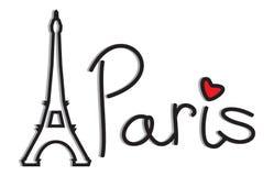 Paris - Eiffel Tower retro card Stock Photo