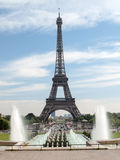 Paris - Eiffel Tower seen from fountain at Jardins du Trocadero Royalty Free Stock Image