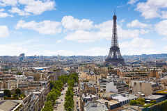 Paris Eiffel tower and skyline aerial France Stock Photography