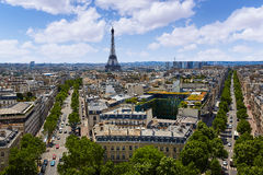 Paris Eiffel tower and skyline aerial France Royalty Free Stock Images