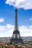 Paris Eiffel tower and skyline aerial France Stock Photo