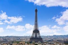 Paris Eiffel tower and skyline aerial France Stock Photos