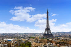 Paris Eiffel tower and skyline aerial France Royalty Free Stock Image