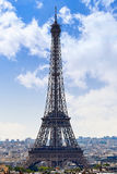 Paris Eiffel tower and skyline aerial France Stock Image