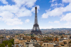 Paris Eiffel tower and skyline aerial France Royalty Free Stock Photos