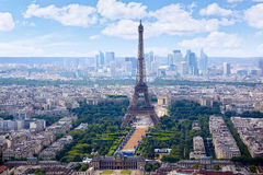 Paris Eiffel tower and skyline aerial France Royalty Free Stock Photography