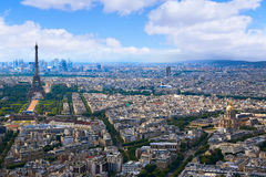 Paris Eiffel tower and skyline aerial France Royalty Free Stock Photos