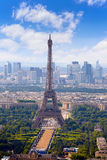 Paris Eiffel tower and skyline aerial France Stock Photos