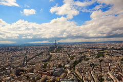 Paris Eiffel tower and skyline aerial France Stock Photo