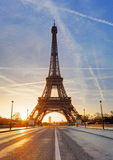 Paris, Eiffel tower at sunrise. Stock Images