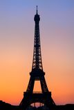 Paris Eiffel Tower Sunset Royalty Free Stock Photos